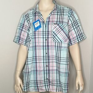 Columbia Anytime Casual Short Sleeve Plaid Shirt